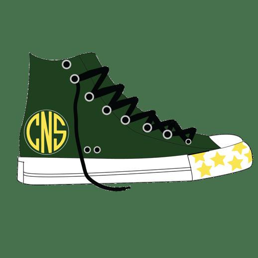 Camp North Star Redbubble sneaker