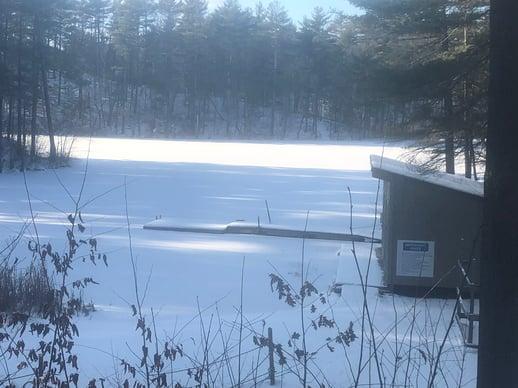 Camp North Star Maine Winter Snow